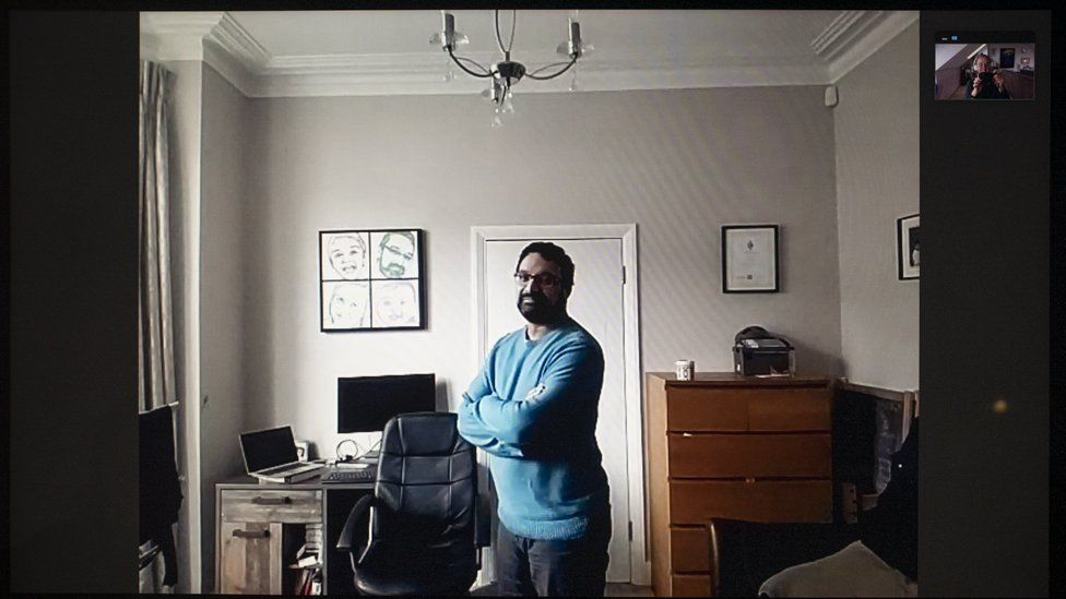 Sumit in his home