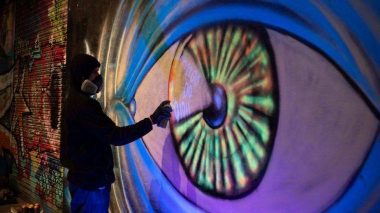 Grafitti de un ojo