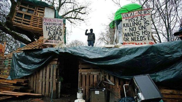 Protester camp