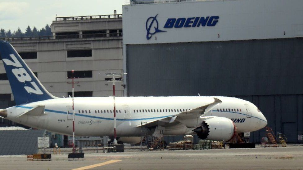 A Boeing manufacturing plant seen in Seattle