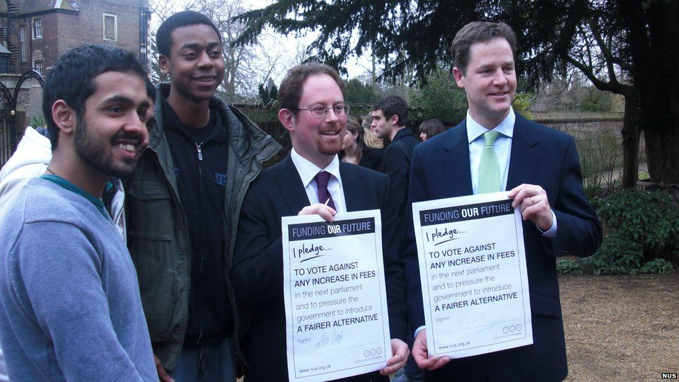 Image result for Nick Clegg's broken fees pledge photo