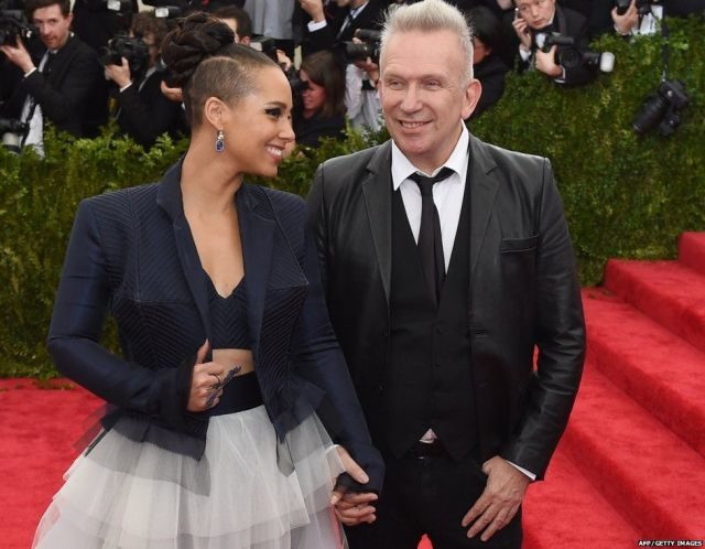 Alicia Keys and Jean Paul Gaultier