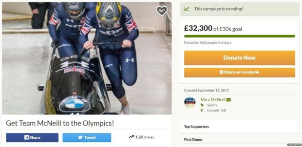 The gofundme page reached it's £30,000 target