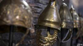 Máscaras de gladiadores romanos