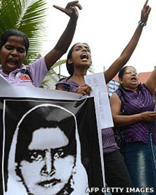 Protestas en Sri Lanka por la ejecución de Rizana Nafeek en enero de 2013