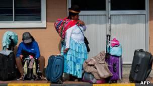 Turistas peruanos en Colombia