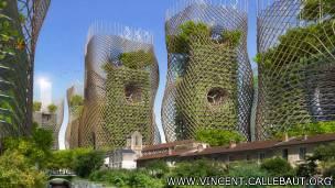 Estos diseños imitarían a una estructura realizada con bambú.
