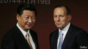 Xi Jinping y Tony Abbott