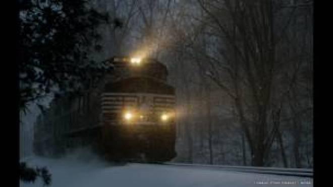 قطار الثلج السريع، بعدسة كورنارد ستينتيفنغيل