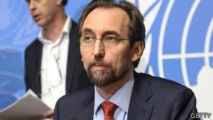 Alto comisionado de la ONU para los derechos humanos, Zeid Raád Al Hussein