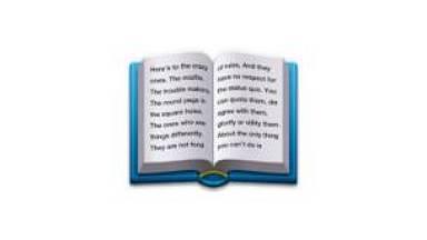 Libro abierto con discurso de Steve Jobs