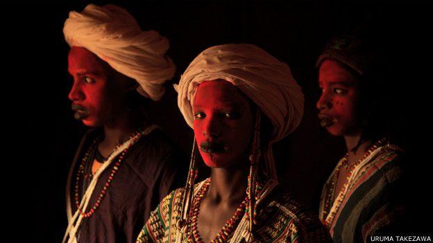 Hombres de la tribu Wodaabe, en Níger.