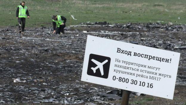 La zona donde cayó el vuelo MH17