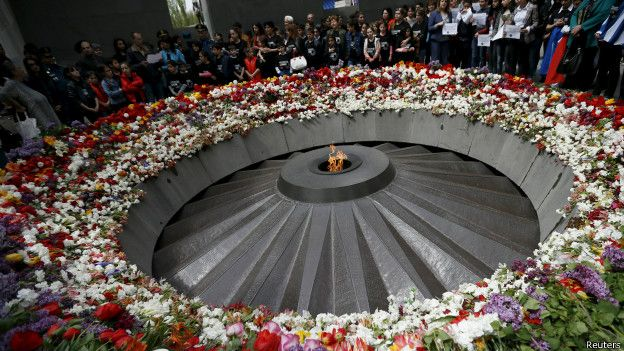 Monumento al genocidio en Armenia