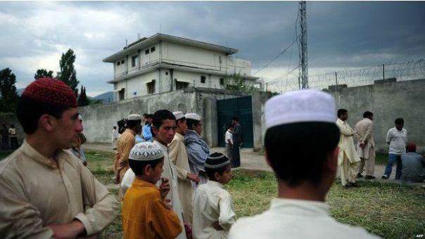 La casa-escondite de Bin Laden en Pakistán.