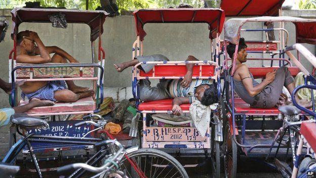 Рикши в Индии
