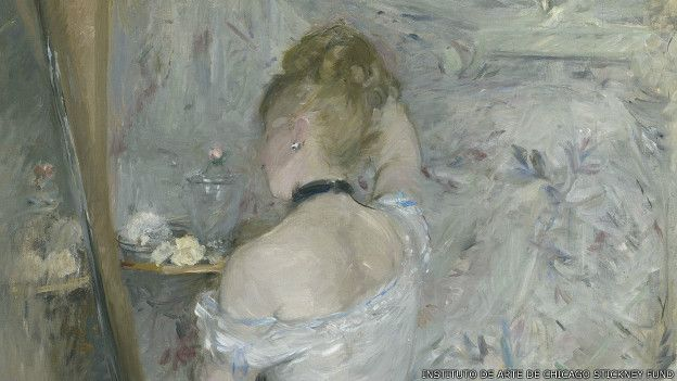 Mujer en su toilette, de Berthe Morisot