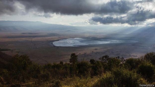 El cráter del volcán Ngorongoro