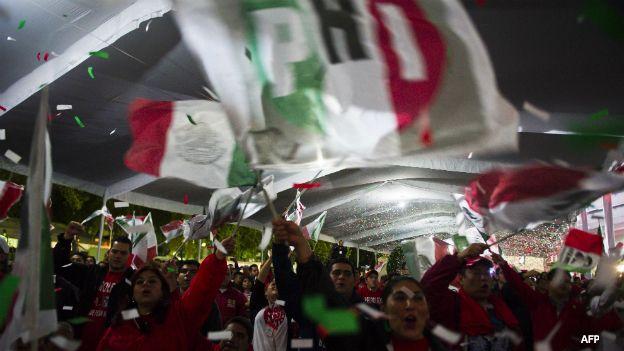 Militantes del PRI en México
