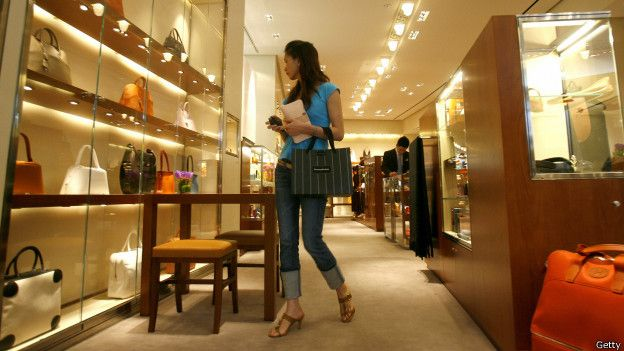 Una tienda de lujo en China