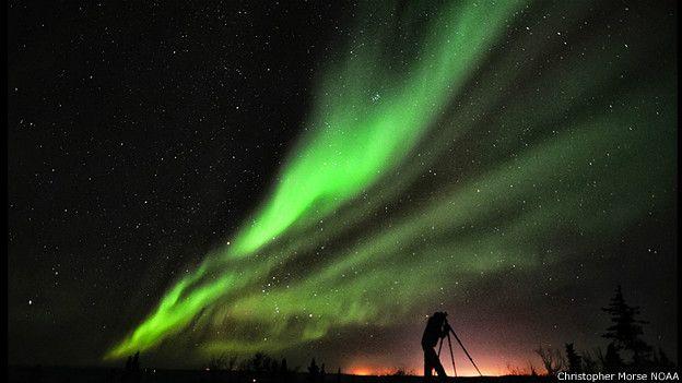 Imagen de la aurora boreal