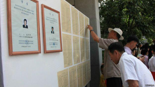 Votantes en Corea del Norte