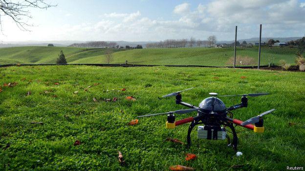Dron en Nueva Zelanda