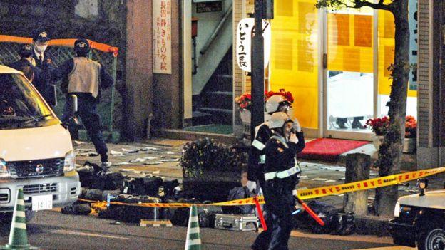 長崎市長伊藤一長被殺現場(17/4/2007)