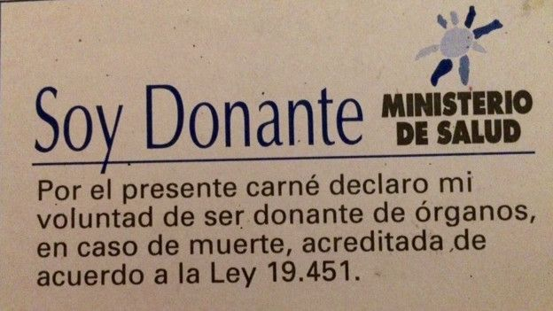 Carnet de donante de órganos