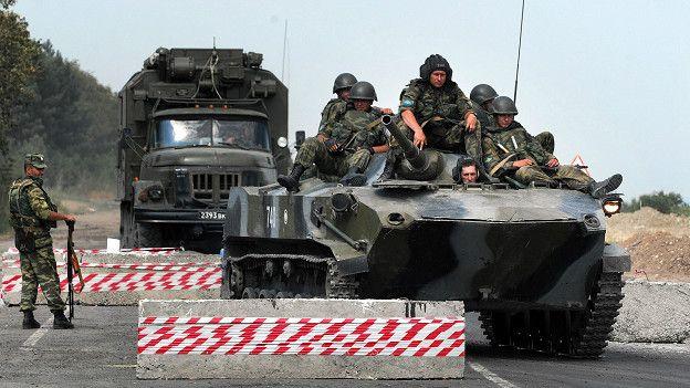 Российские войска в Грузии, август 2008 года