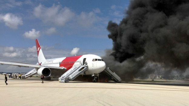 Florida: varios heridos en incendio de avión con destino a Caracas