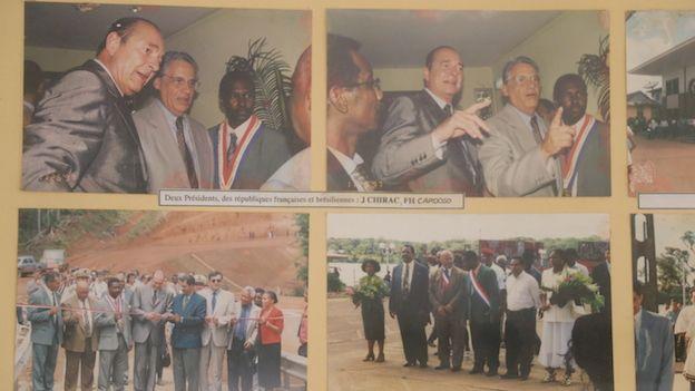 Imágenes de una visita a la Guyana Francesa en 1997 de los entonces presidentes de Francia, Jacques Chirac, y de Brasil, Fernando Henrique Cardoso.
