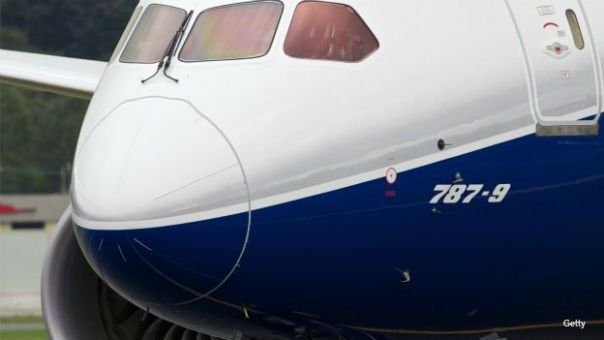 Avión Boeing Dreamliner 787-9 estacionado en el aeropuerto de Seattle. Foto: Getty