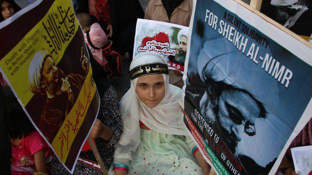 Protestas por la ejecución de al Nimr