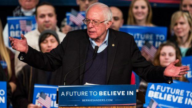 Un futuro por el que creer, el lema de Sanders.