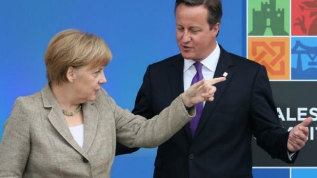Angela Merkel y David Cameron