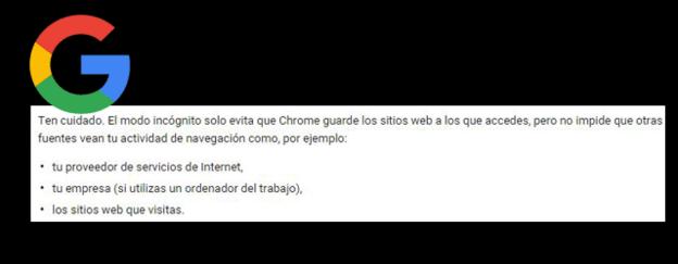 La letra pequeña de Chrome