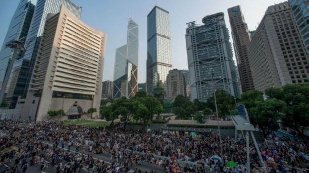 Những người biểu tình trên đường phố Bắc Kinh