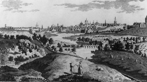Phoenix Park, Dublín, en una gráfica de 1754