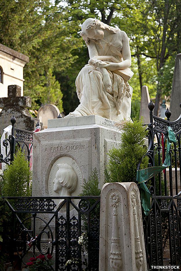 Tumba de Chopin en Pere Lachaise