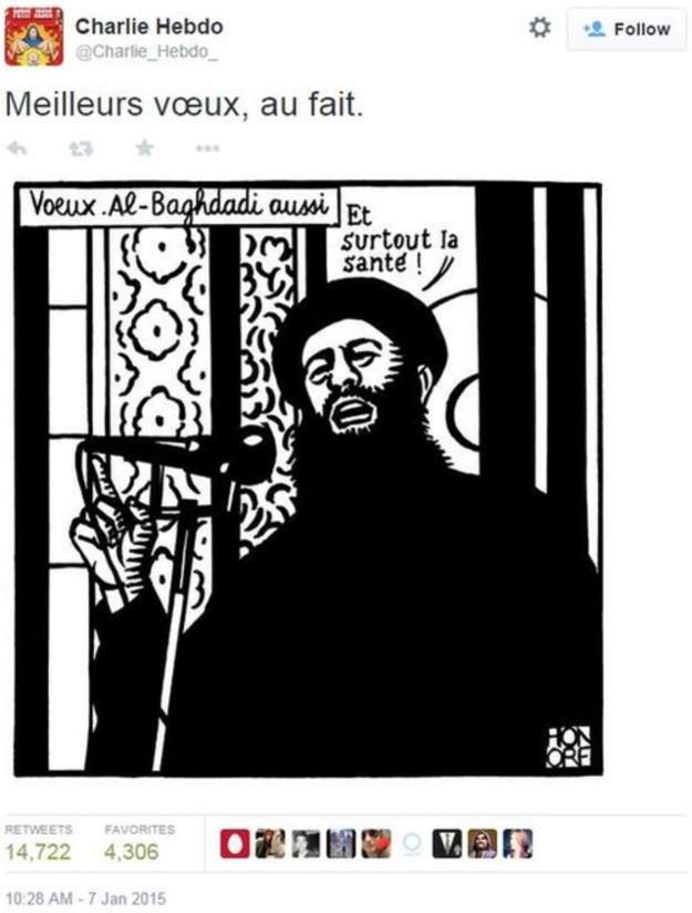 último tuit de Charlie Hebdo