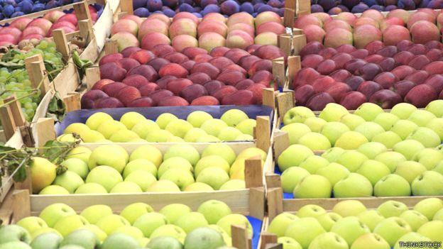 Cajones de manzanas