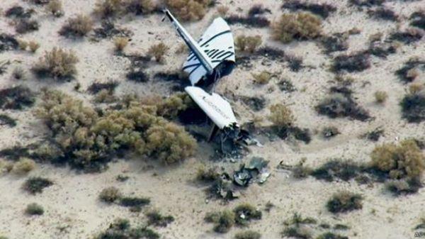 Nave para vôo espacial comercial sofre acidente 1