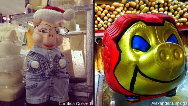 Cochinitos navideños en Venezuela