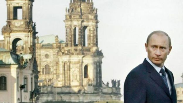 Vladimir Putin en Dresde