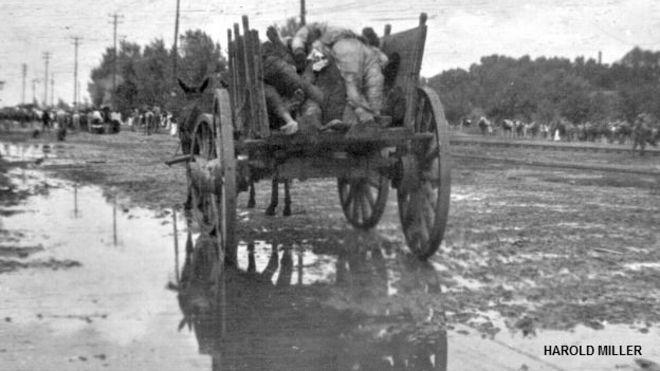 Cadáveres en una carreta después de la masacre de chinos en Torreón, Coahuila, en 1911. Foto: cortesía archivo Harold Miller
