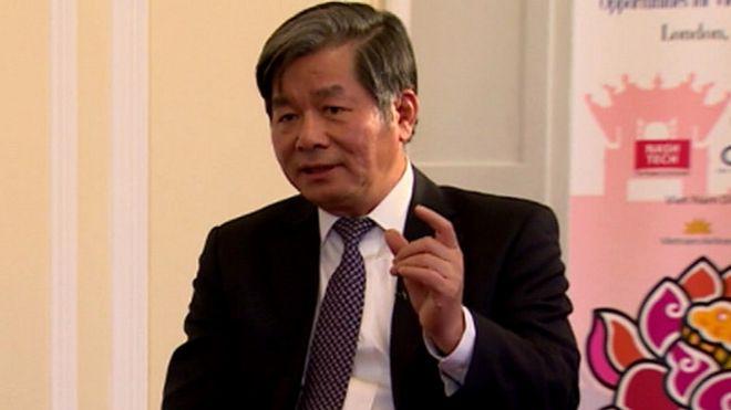Bộ trưởng Kế hoạch đầu tư Bùi Quang Vinh tại London 09/2015