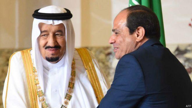 शाह सलमान और अल सीसी