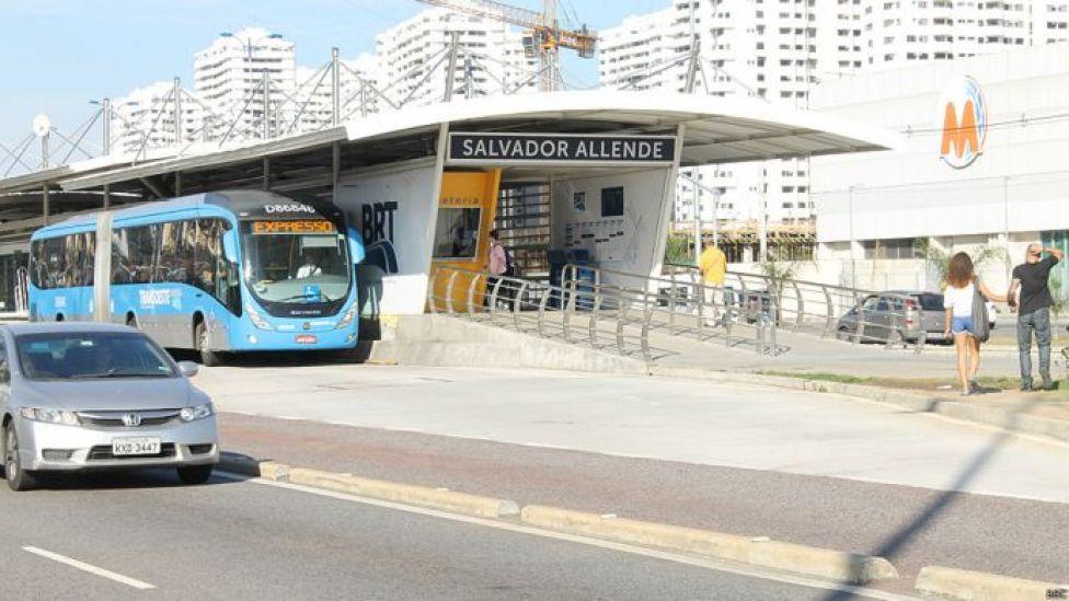 Estación de ómnibus expreso en Río de Janeiro