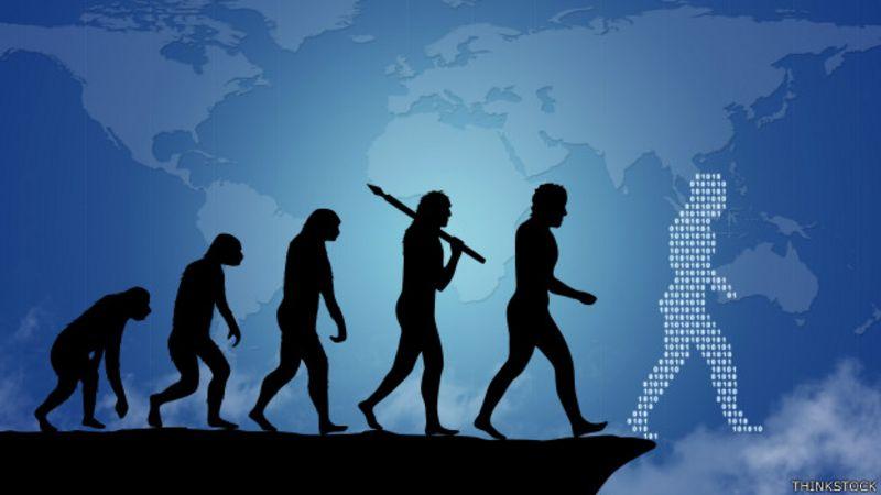 Ilustracion de evolucion de humanidad